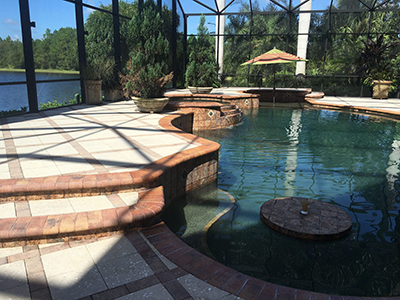 Pool Deck Pavers Cleaned and Sealed